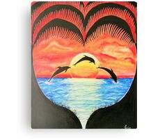 My Happy Place - Sunset Ocean Canvas Print