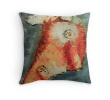 Gabbie posing again, watercolor Throw Pillow