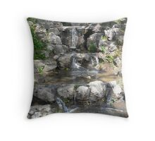 Tranquil Waterfall Throw Pillow