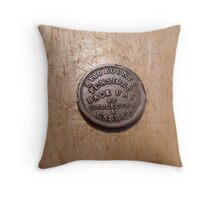 Civil War Claim Token Throw Pillow