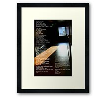 To Philippe Framed Print