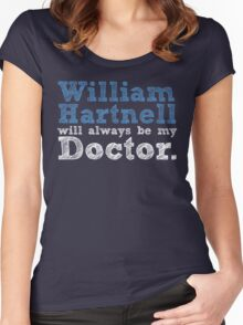William Hartnell will always be my Doctor Women's Fitted Scoop T-Shirt