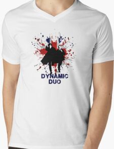 Dynamic Duo Mens V-Neck T-Shirt