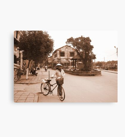 Old streets of Hanoi, Vietnam Canvas Print