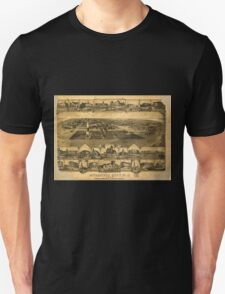 Panoramic Maps Atlantic City NJ 1880 Unisex T-Shirt