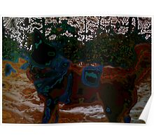 Dog in snow - not by Hundertwasser II Poster