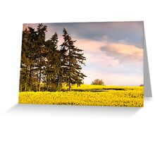 Blue green and yellow Greeting Card