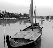 Boat on river at Hoi An, Vietnam by mechelle142