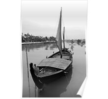 Boat on river at Hoi An, Vietnam Poster