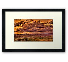 Storm Over an Idaho Ranch Framed Print