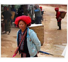 Red Dzao tribal woman from north Vietnam Poster