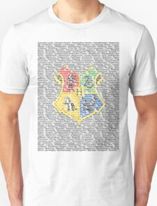 Harry Potter Spells List - Text Crest T-Shirt