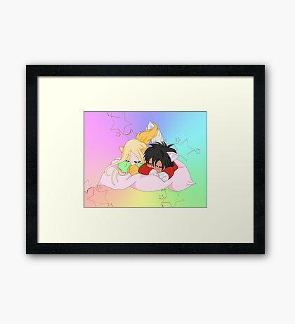 Little wolf chibis Framed Print