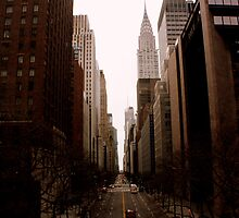 Looking West Down 42nd Street by Amanda Vontobel Photography