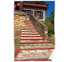Stairs to Cuban Cuisine Poster