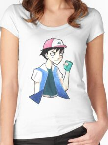 Pokemon: Ash Ketchum Women's Fitted Scoop T-Shirt