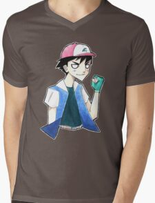 Pokemon: Ash Ketchum Mens V-Neck T-Shirt