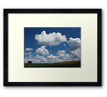 Hill with Cumulus Framed Print