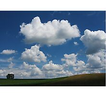 Hill with Cumulus Photographic Print