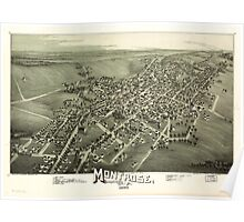 Panoramic Maps Montrose Susquehanna County Pa Poster