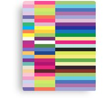 Compelling Colorful Striped Pattern Canvas Print