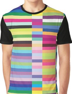 Compelling Colorful Striped Pattern Graphic T-Shirt