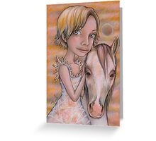 Europa and Snowflake Greeting Card