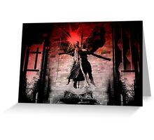 Angel Descending To Destroy Evil   Greeting Card