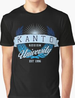 Kanto Region University_Dark BG Graphic T-Shirt