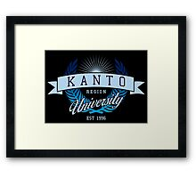 Kanto Region University_Dark BG Framed Print