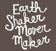 Earth Shaker Mover Maker in Slate Gray One Piece - Short Sleeve