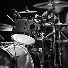 Drums in Black & White by Amanda Vontobel Photography