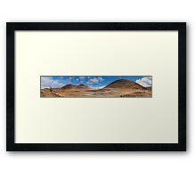 Volcanic landscape Framed Print