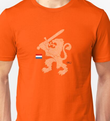 Dutch Lion (orange shirt) Unisex T-Shirt