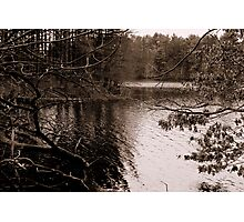 Reservoir in Winter Photographic Print