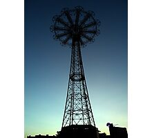 Parachute Drop - Coney Island Photographic Print