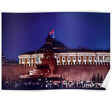 kremlin with red flag Poster