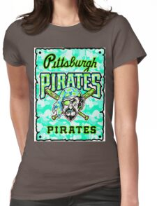 PIRATES WHITE Womens Fitted T-Shirt