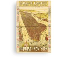 Panoramic Maps Gracie Emmett in her great play the Pulse of New York Canvas Print