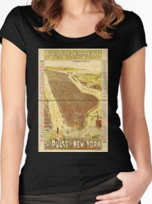 Panoramic Maps Gracie Emmett in her great play the Pulse of New York Women's Fitted Scoop T-Shirt