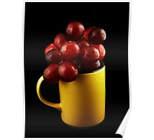 Mug with Grapes Poster