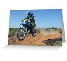 Motorbike Action Greeting Card