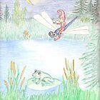 Red Elf at Pond by Johanus Haidner