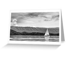 Sailing in Black and White Greeting Card
