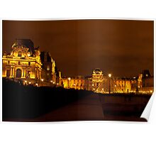 Evening at the Louvre Poster