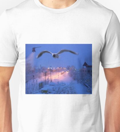 seagull at winter Unisex T-Shirt