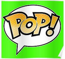 Pop! on Lime Green Poster