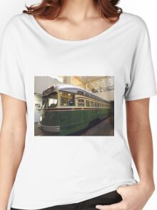Vintage Philadelphia PCC Trolley, SEPTA Museum, Philadelphia, Pennsylvania  Women's Relaxed Fit T-Shirt