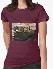 Vintage Philadelphia PCC Trolley, SEPTA Museum, Philadelphia, Pennsylvania  Womens Fitted T-Shirt
