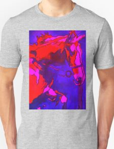 Pony In Neon Pink and Blue T-Shirt